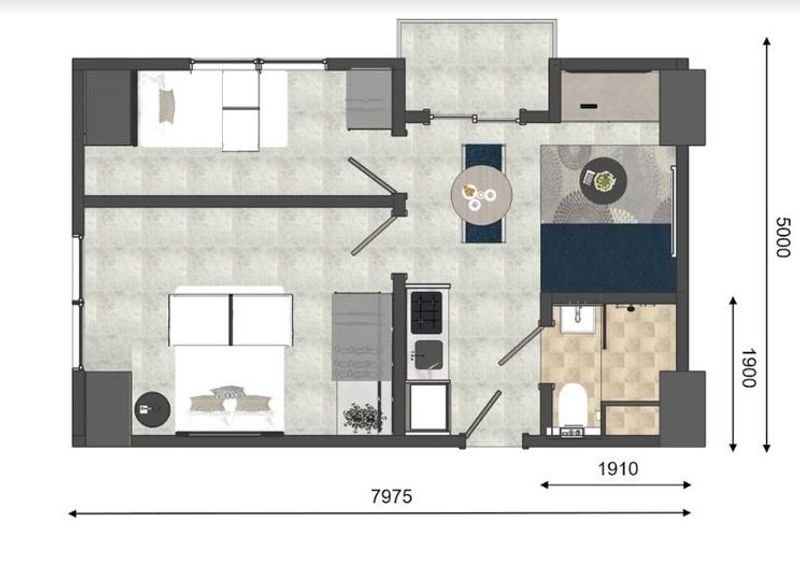 green-avenue-2-bed-room
