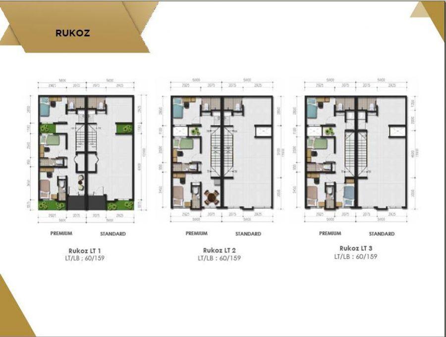U House Bintaro - denah 1