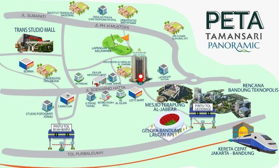 Tamansari Panoramic Bandung lokasi