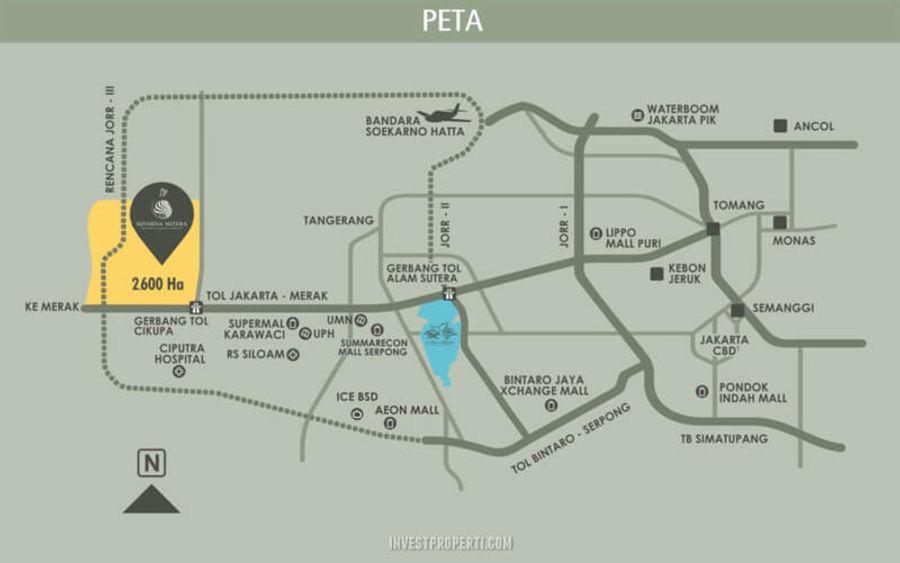 Cluster Dakota Suvarna Sutera maps