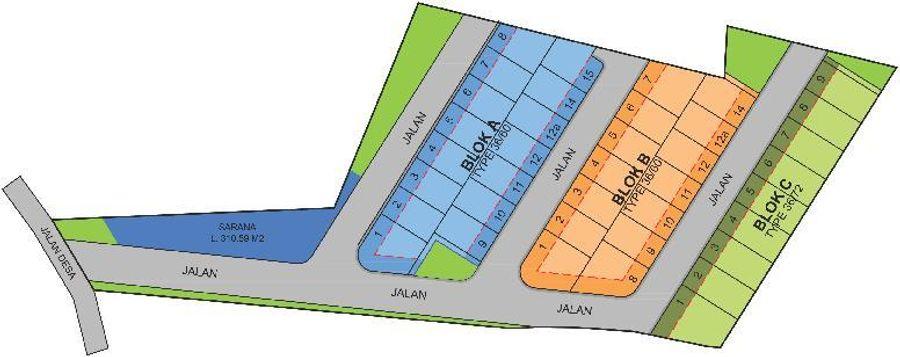 Makmur Indah Residence site plan